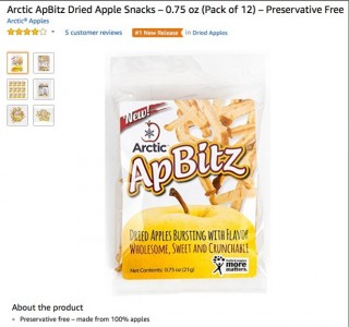 (Over)packaged as a healthy snack - these apple snacks are actually GMO.